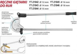 GIĘTARKA DO RUR 18MM YT-21846 YATO