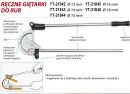 GIĘTARKA DO RUR 12MM YT-21842 YATO